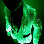 Glow in the Dark Jacket with Fiber Optic Lights