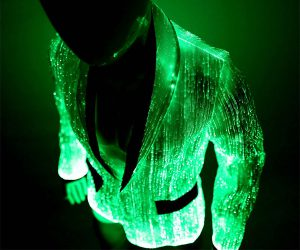 Glow in the Dark Jacket with Fiber Optic Lights