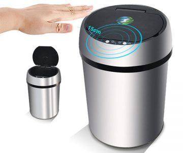 Infrared Touchless Smart Trash Can