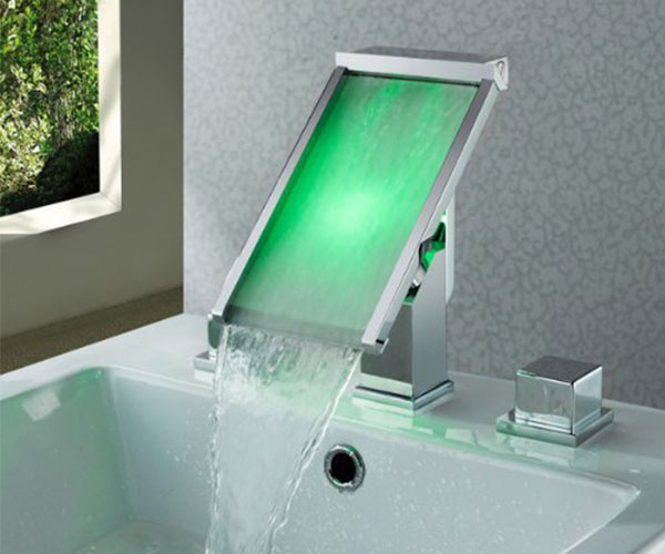 LED Waterfall Bathroom Sink Faucet » COOL SH*T i BUY