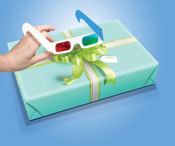 Lazy Bow 3D Wrapping Paper