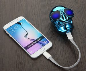 Mini Skull Power Bank External Battery Pack