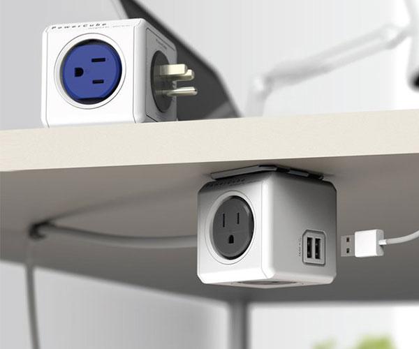 PowerCube Modular 4 Outlet & USB Plug