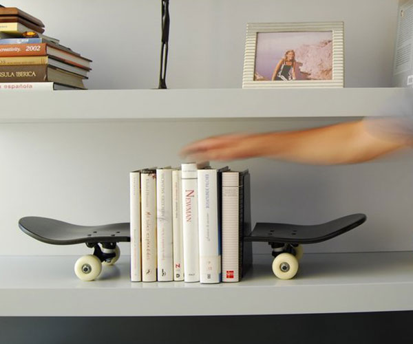 Skateboard Bookends