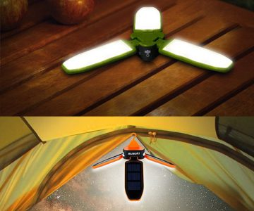 Solar Rechargeable Light Lantern Flashlight