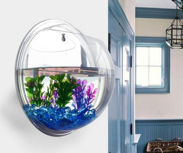 Wall Mount Bubble Aquarium Tank Bowl