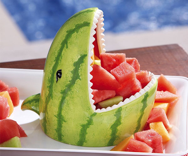 Watermelon Shark Decorative Server