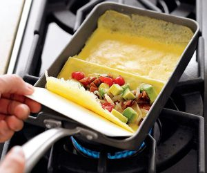 2 Section Rolled Omelet Pan by Nordic Ware