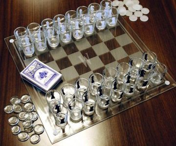 3 in 1 Shot Glass Chess Game Set