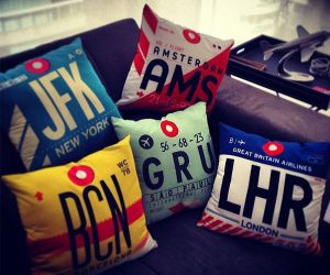 Airportag Pillow Covers