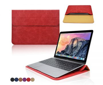 Apple Macbook Wallet Sleeve Cover Case with Stand