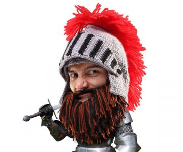 Barbarian Knight Beard Hat