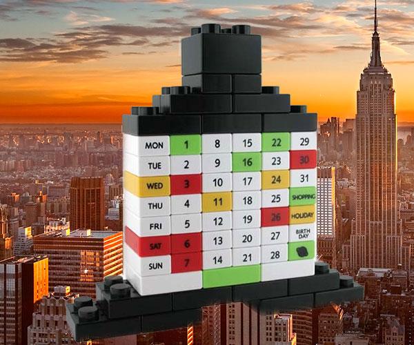 Building Block Perpetual Puzzle Calendar