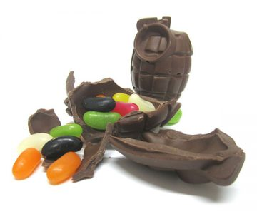 Chocolate Hand Grenade with Jelly Beans