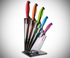 Dexterity Colored Knife Block Set
