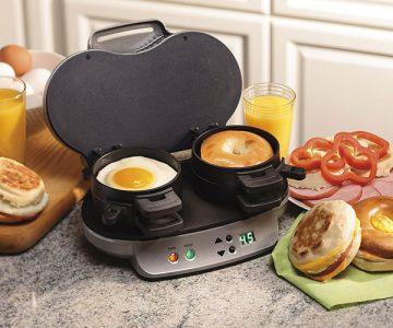Dual Breakfast Sandwich Maker by Hamilton Beach