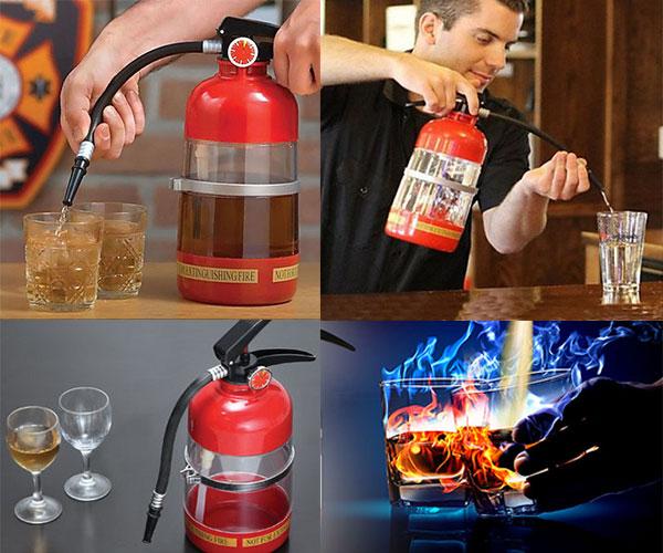 Fire Extinguisher Drinks Wine Beer Dispenser Machine
