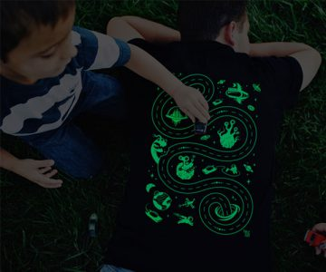 Glow in the Dark Racing Space Play Mat Tshirt