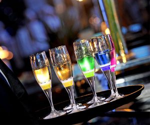 LED Light-Up Champagne Flute Glasses