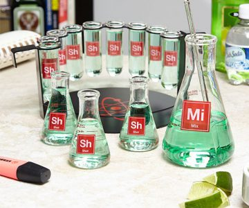 Mad Scientist Chemistry Shot Glasses Bar Set