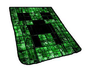 Minecraft Creeper Face Matrix Blanket