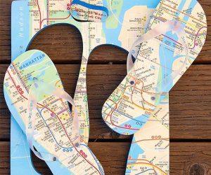 NYC Map Flip Flops