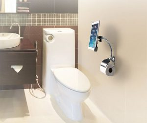 Toilet Roll Holder Stand for iPad & Tablets