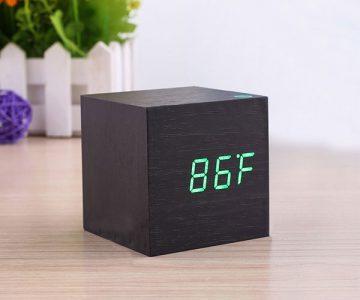 Wooden Block Digital Alarm Clock