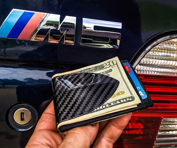 Carbon Fiber Money Clip Wallet