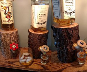 Log Liquor Dispenser Serve your Liquor in Style