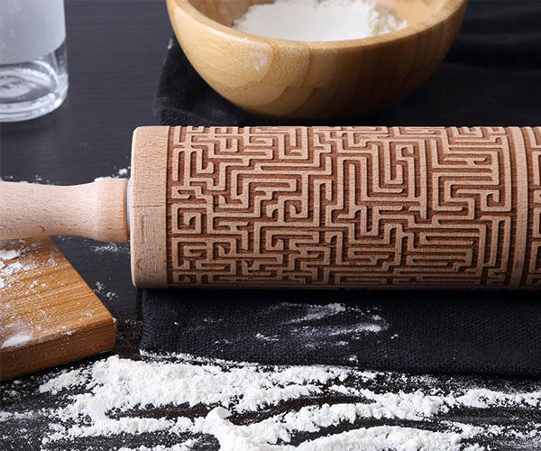 Maze Engraved Rolling Pin