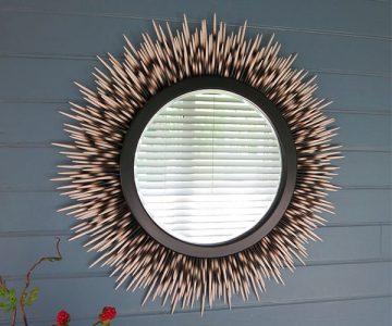 Porcupine Quill Mirror