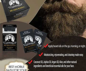Beard Wipes Mobile Beard Bath