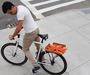 Bent Bicycle Basket