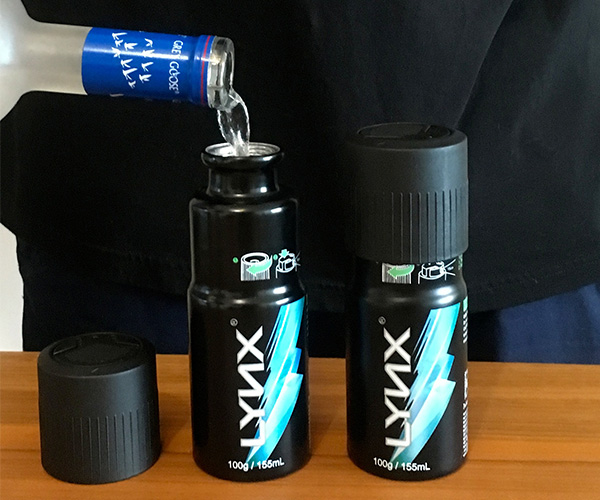 Bev-Can Secret Deodorant Body Spray Flask