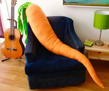 Giant Carrot Body Pillow