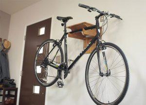 Fold Away Bamboo Bike Rack