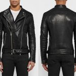 Balmain Quilted Grained-Leather Biker Jacket