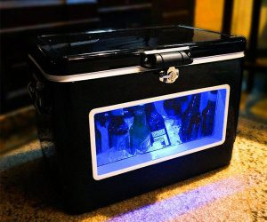 Black LED Party Cooler with Window