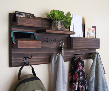 Coat Rack and Storage Organizer Shelf