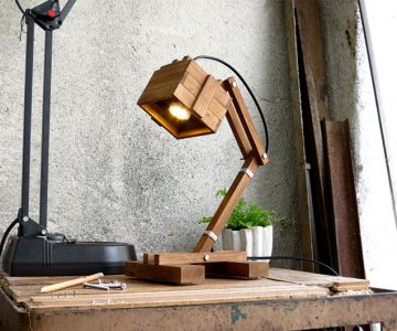 Paladim Kran VI Wooden Table Lamp