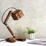 Paladim Kran VI Wooden Table Lamp