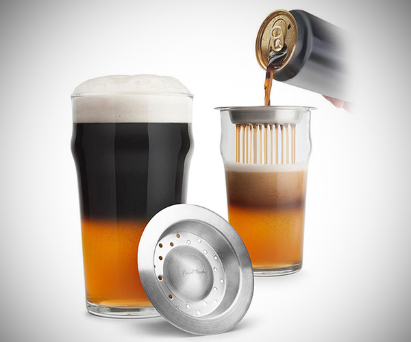 Black and Tan Beer Glass Set