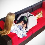 The LapDome Portable Sun Shade Case for Laptops