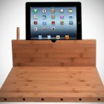 Bamboo Cutting Board with iPad Stand