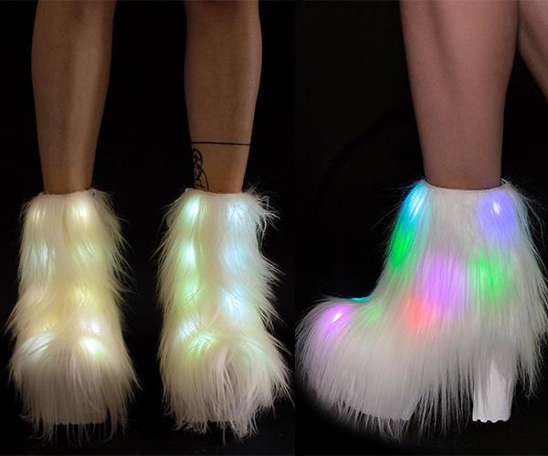 Fluffer Light-Up Boots