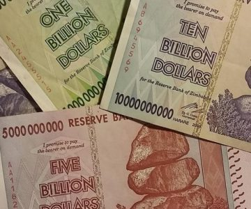 Billion Dollar Bills from Zimbabwe