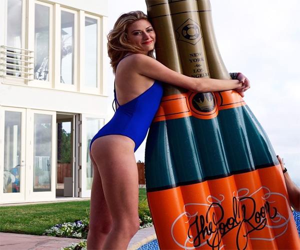 Champagne Bottle Pool Float