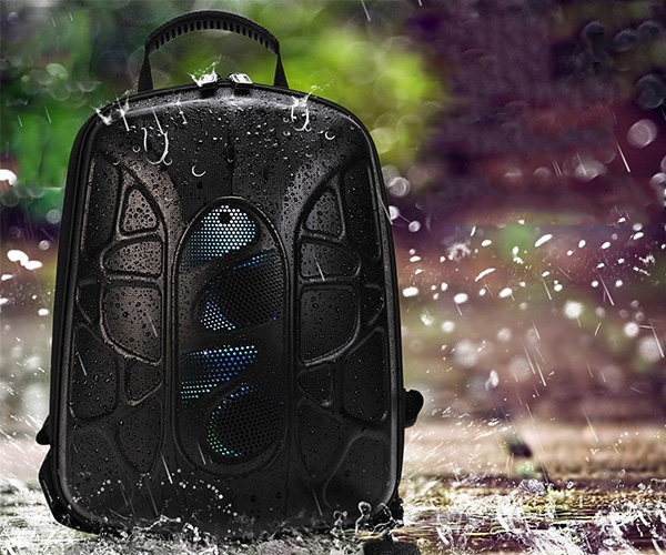 Backpack with Speakers & LED Lights
