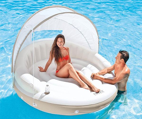 Canopy Island Inflatable Pool Lounge